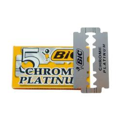Chrome Platinum Dubbelrakblad 5-pack produkt + forpackning