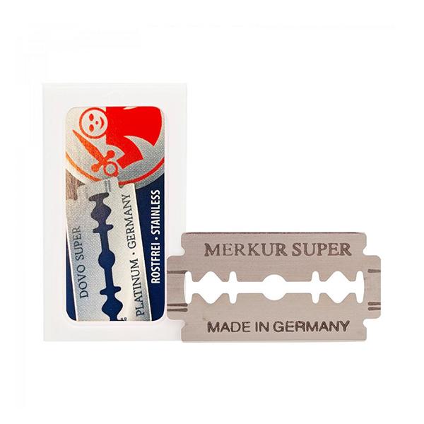 Super Platinum Stainless Dubbelrakblad 10-pack produkt + forpackning