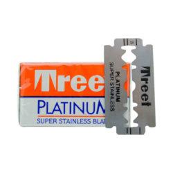 Platinum Dubbelrakblad 10-pack produkt + forpackning