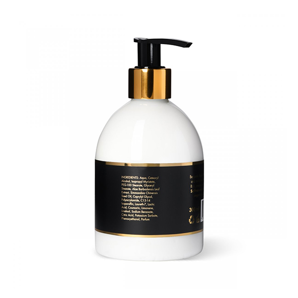 Hand Lotion Saffron & Leather 300 ml produkt baksida