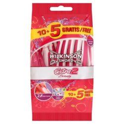 Wilkinson Sword - Extra 2 Beauty Damrakhyvel 10+5 st
